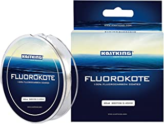 KastKing FluoroKote Fishing Line - 100% Pure Fluorocarbon Coated - 300Yds/274M Premium Spool - Upgrade from Mono Perfect Substitute Solid Fluorocarbon Line