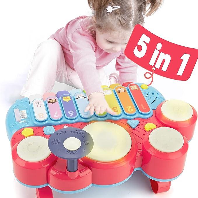 1187 opinioni per CubicFun 5 in 1 Pianoforte Musicali Giochi Bambini 1 Anno Tastiera Pianoforte e