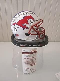 Smu Pony Express Backfield Autographed Signed Memorabilia Schutt Helmet Dickerson James Mcillhenny JSA