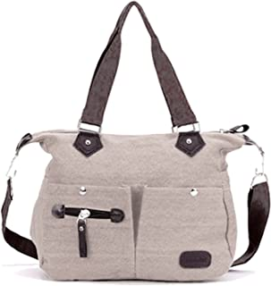 Lustear Canvas Tote Bags Shoulder Bags Cross-Body Bag