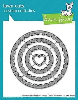 Lawn Fawn Reverse Stitched Scalloped Circle Windows (LF1801)