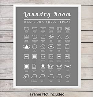 Laundry Room Wall Art Print - Typography Home Decor - Makes a Thoughtful Gift for Women - 8x10 Photo - Unframed