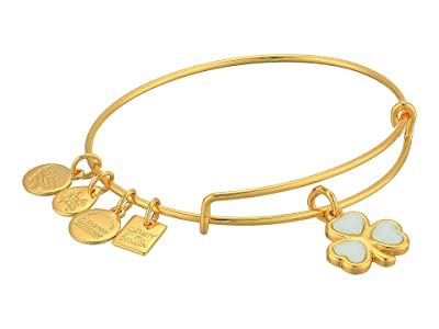 Alex and Ani Crystal Shamrock Bangle Bracelet (Shiny Gold) Bracelet