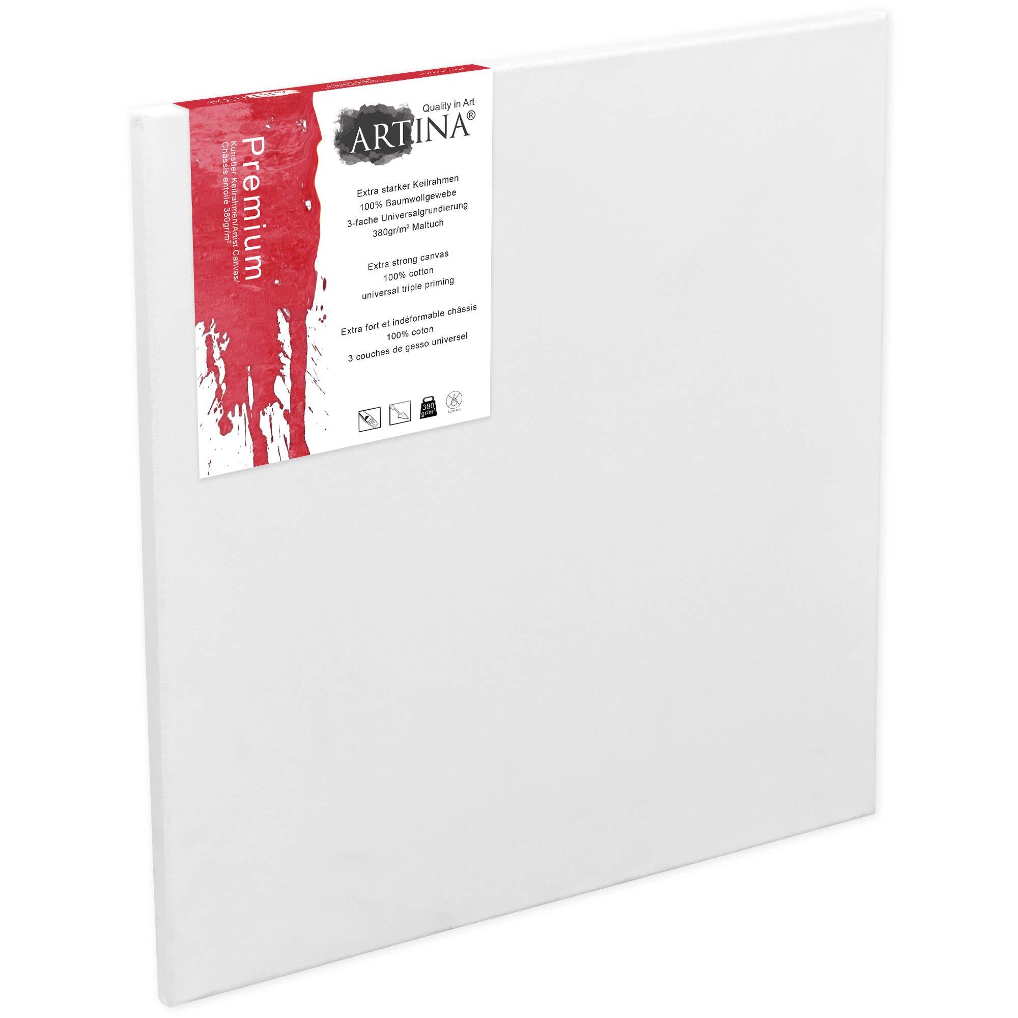 peinture 100/% coton sur ch/âssis 20x20 cm 10 TOILES ART-STAR artiste 280 g//m/²