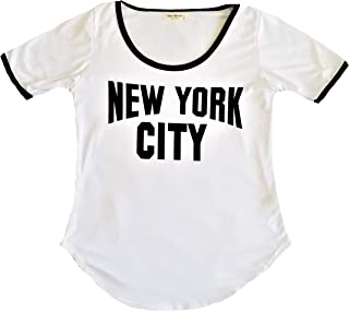 New York NYC T-Shirt   Colorful and Vivid Printing   Decorated with Rhinestones