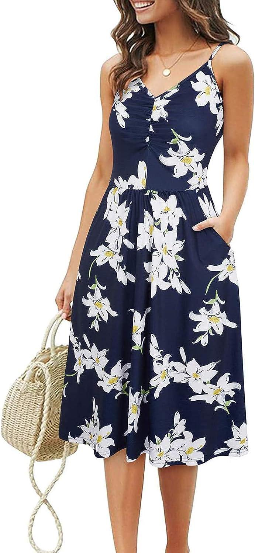 HUIHAIXIANGBAO Womens Dresses Backless Sleeveless Mini Dress Casual Summer Beach Sundress Short Tunic T Shirt Party Dress