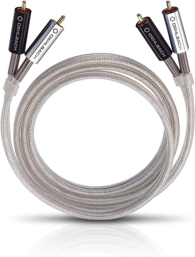 Oehlbach Silver Express 150 Erstklassiges Stereo Cinchkabel Set