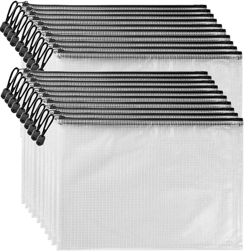 AUSTARK 20Pcs Zipper Document Max 74% OFF Pouch File Bags Choice PVC Zippered Mes