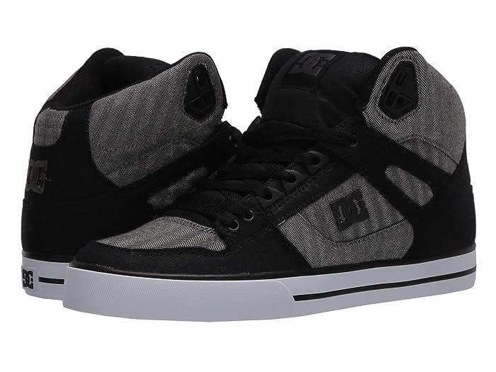 DC  Pure High-Top WC TX SE (Black/Herringbone) Mens Skate Shoes