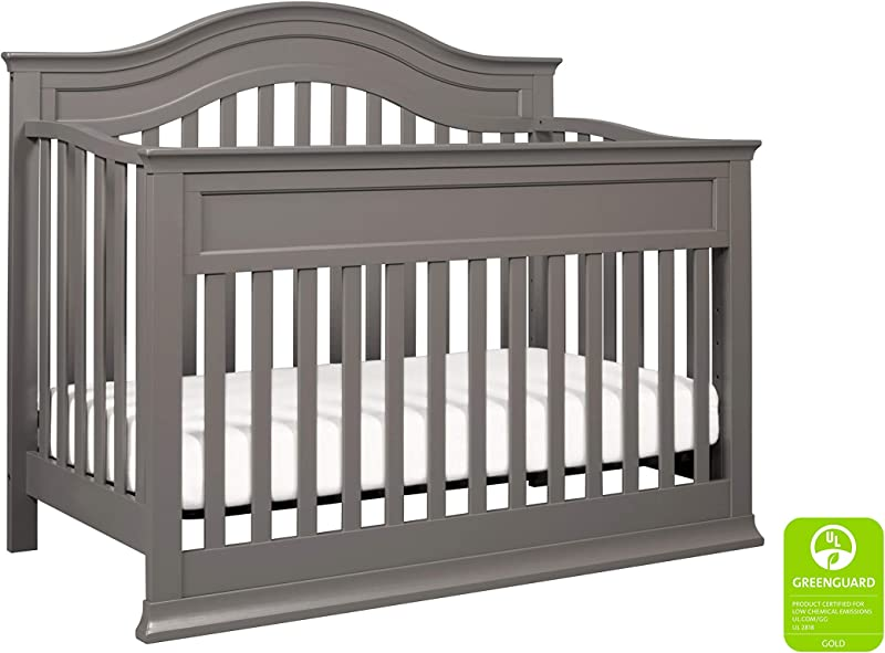 DaVinci Brook 4 In 1 Convertible Crib With Toddler Bed Conversion Kit Slate