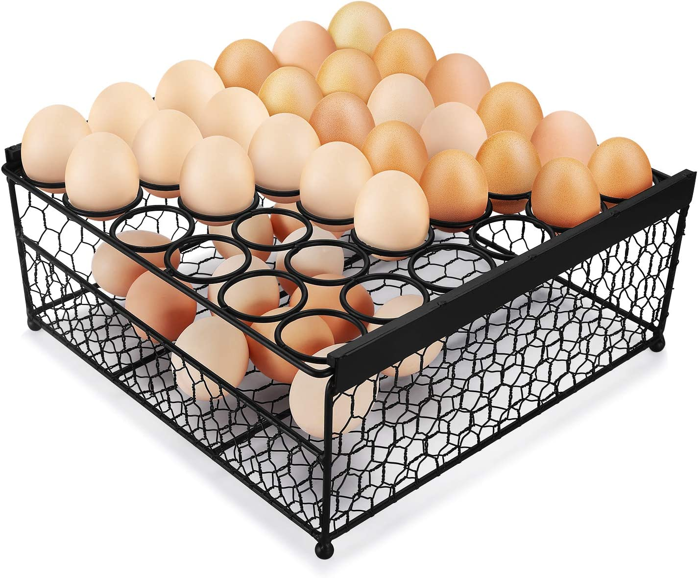 Flexzion Egg Storage Basket Limited price 2 Tier Chicken Super beauty product restock quality top! w Eg Top Wire