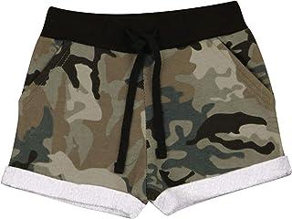 Kids Girls Shorts Fleece Camouflage Charcoal Summer Hot Short Dance Gym Pants
