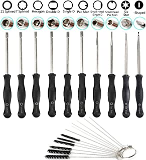 10-pack förgasare justeringsverktyg med förgasare rengöringsborste nål för allmän 2 cykler liten motor ECHO STIHL Poulan H...