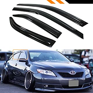 Cuztom Tuning JDM 3D Style Smoked Window Visor Vent Shade for 2007-2011 Toyota Camry LE SE