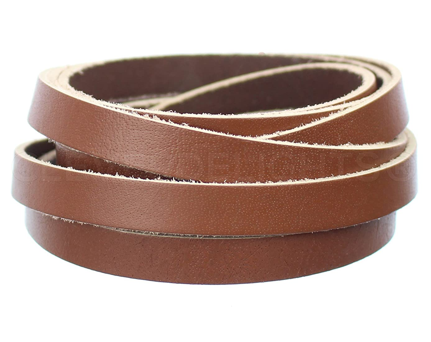 CleverDelights Premium Cowhide Leather Strap -- 3/8