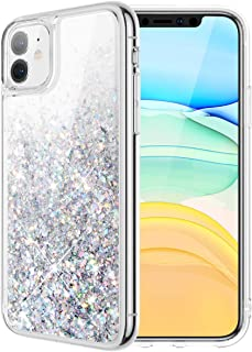 Caka Case for iPhone 11 Glitter Case for Girls Women Liquid Bling Sparkle Luxury Fashion Flowing Floating Shining Glitter Quicksand Soft TPU Clear Cute Phone Case for iPhone 11 (Silver)