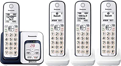 $135 » Panasonic KX-TGD564A2 Link2Cell Bluetooth Cordless Phone with Voice Assist and Answering Machine (4 Handsets)