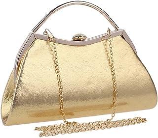 Shoulder Bag Women Sparkly Evening Clutch Purse Handbag in Hardcase Handbag Clutch (Color : Gold)