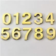 Exquisite and durable Deur adres 5 teken hoge kwaliteit nummer hotel cijfers sticker 0-9 moderne nummerplaat populaire kam...