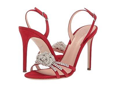 Giuseppe Zanotti Blossom Rhinestone Slingback Heel Sandal (Kanda Fiamma) Women