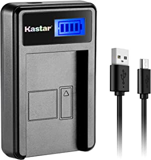 Kastar LCD Slim USB Charger for Sony NP-FW50 and Alpha 7 7R 7R II 7S a7R a7S a7R II a5000 a5100 a6000 a6300 NEX-7 SLT-A37 DSC-RX10 DSC-RX10 II III 7SM2 ILCE-7R 7S QX1 5100 6000, VG-C1EM VG-C2EM Grip