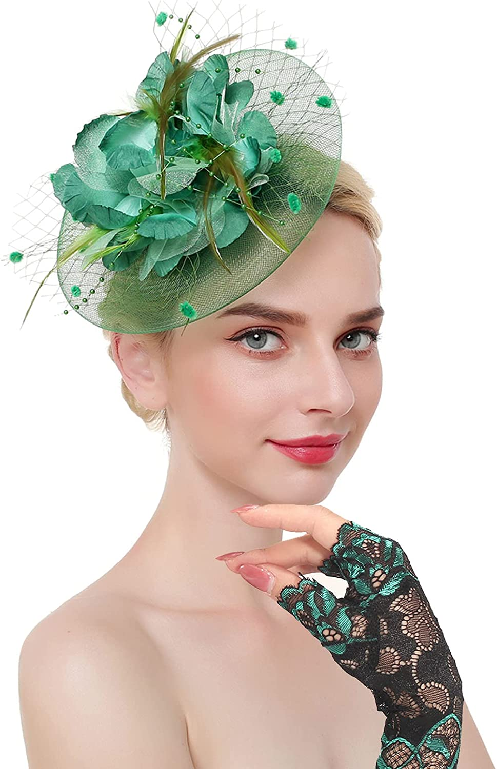 Luxury Ibeauti Fascinator Hats with Screentouch Lace Wom for Challenge the lowest price of Japan Gloves Set