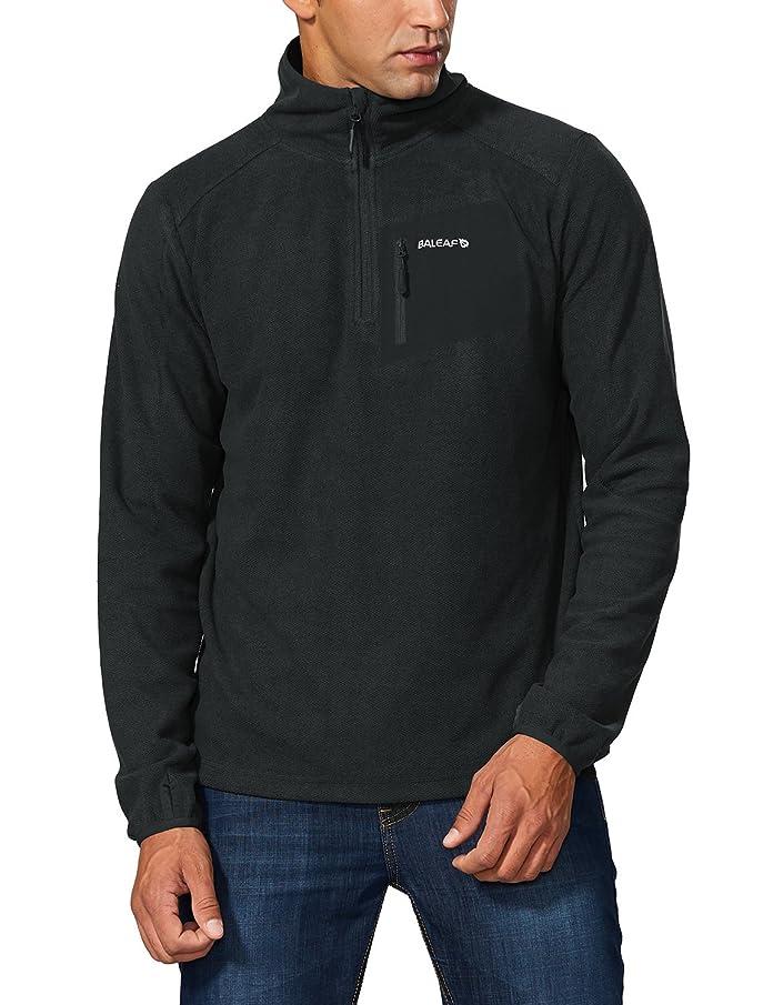 Baleaf Men's Fleece Pullover Jacket Zip Pocket Sport Sweater Sweatshirt