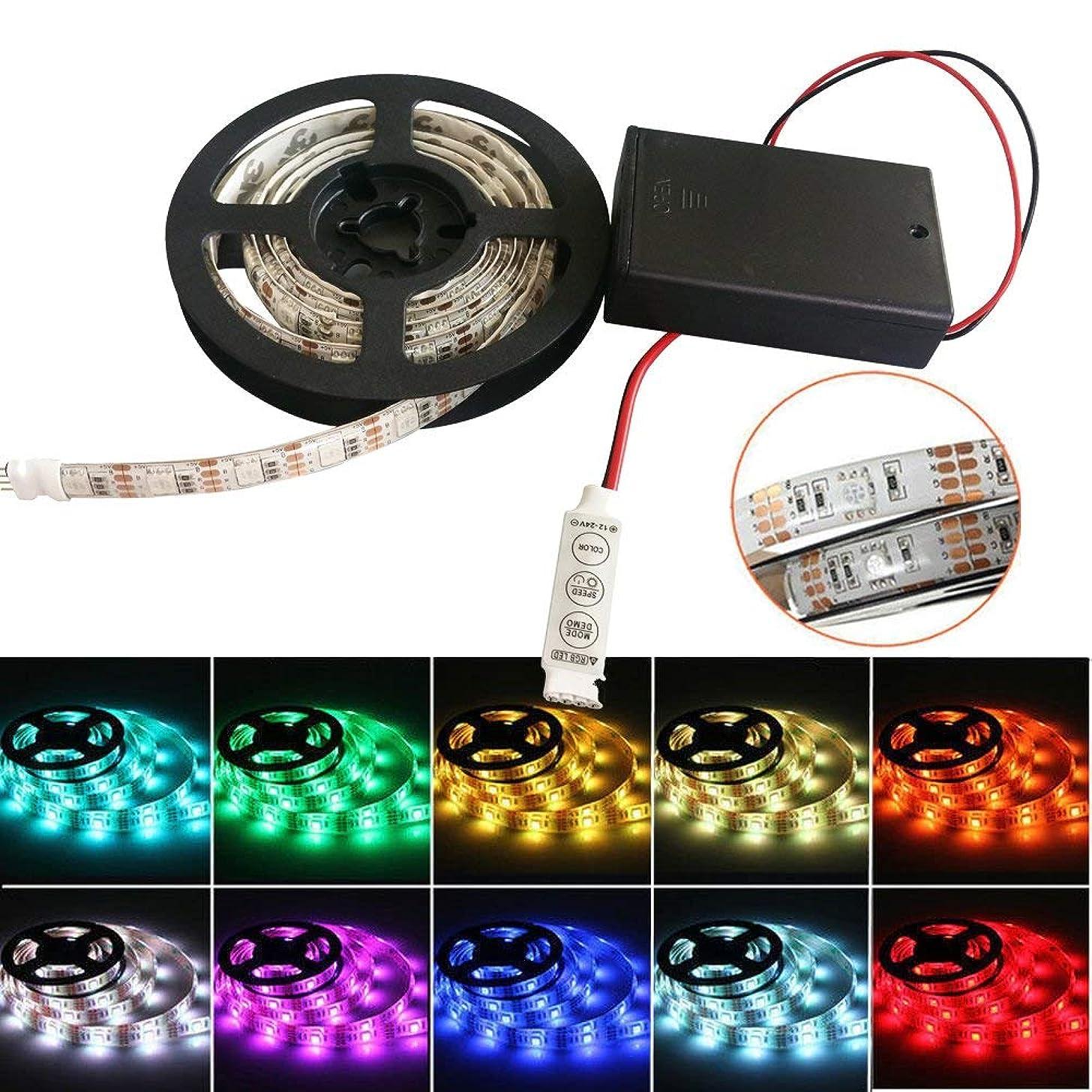 iNextStation LED Strip Light Battery Powered, 5V 120 Units SMD5050 LEDs Color Changing Waterproof String Light (200cm, RGB)