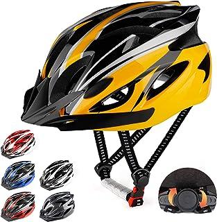 RaMokey Casco de bicicleta para adultos, hombre y mujer, cuerpo de poliestireno expandido + carcasa de policarbonato, casc...