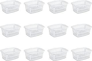 Sterilite 12458012 1.5 Bushel/53 Liter Rectangular Laundry Basket, White (Pack of 12)