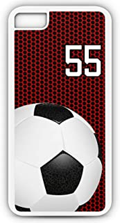 iPhone 6 Plus 6+ Phone Case Soccer SC035Z by TYD Designs in White Plastic Choose Your Own Or Player Jersey Number 55