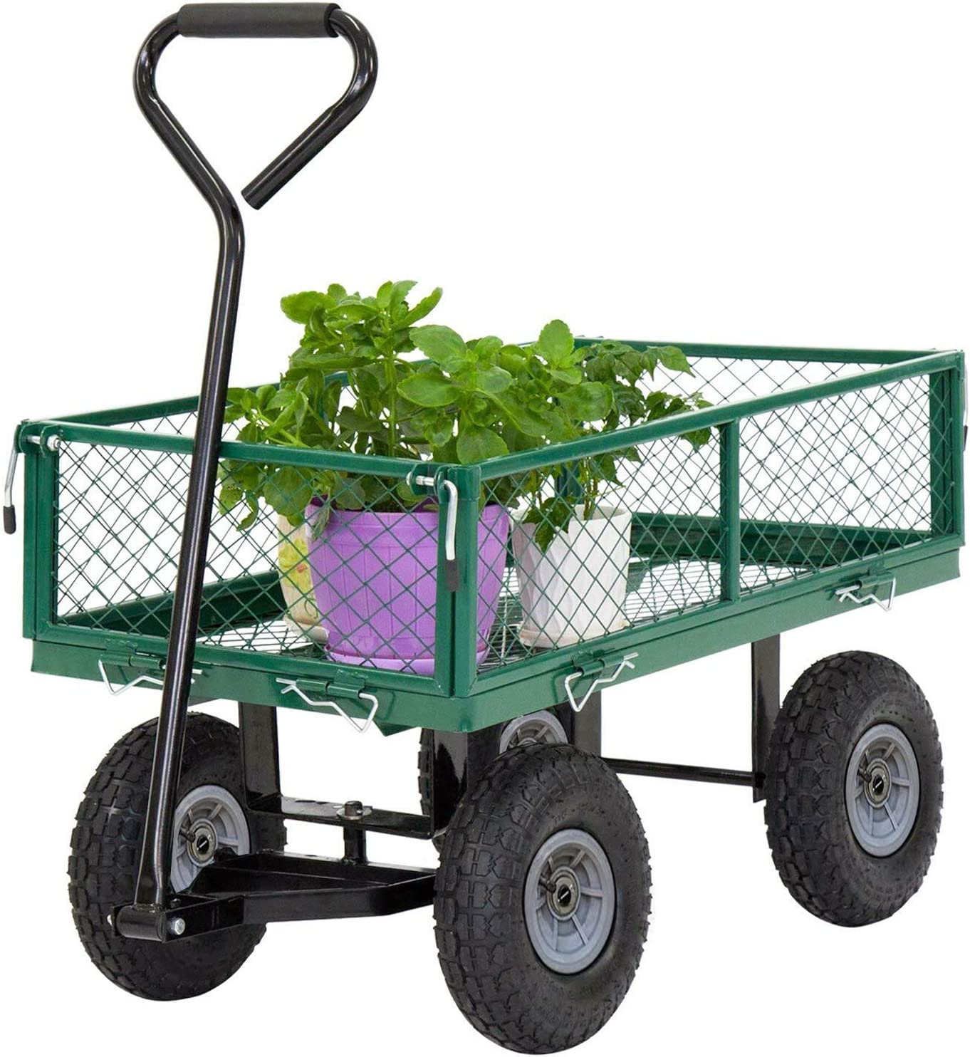 All items free shipping Garden Carts Max 44% OFF Yard Dump Wagon Cart Lawn Utility Outdoor Stee