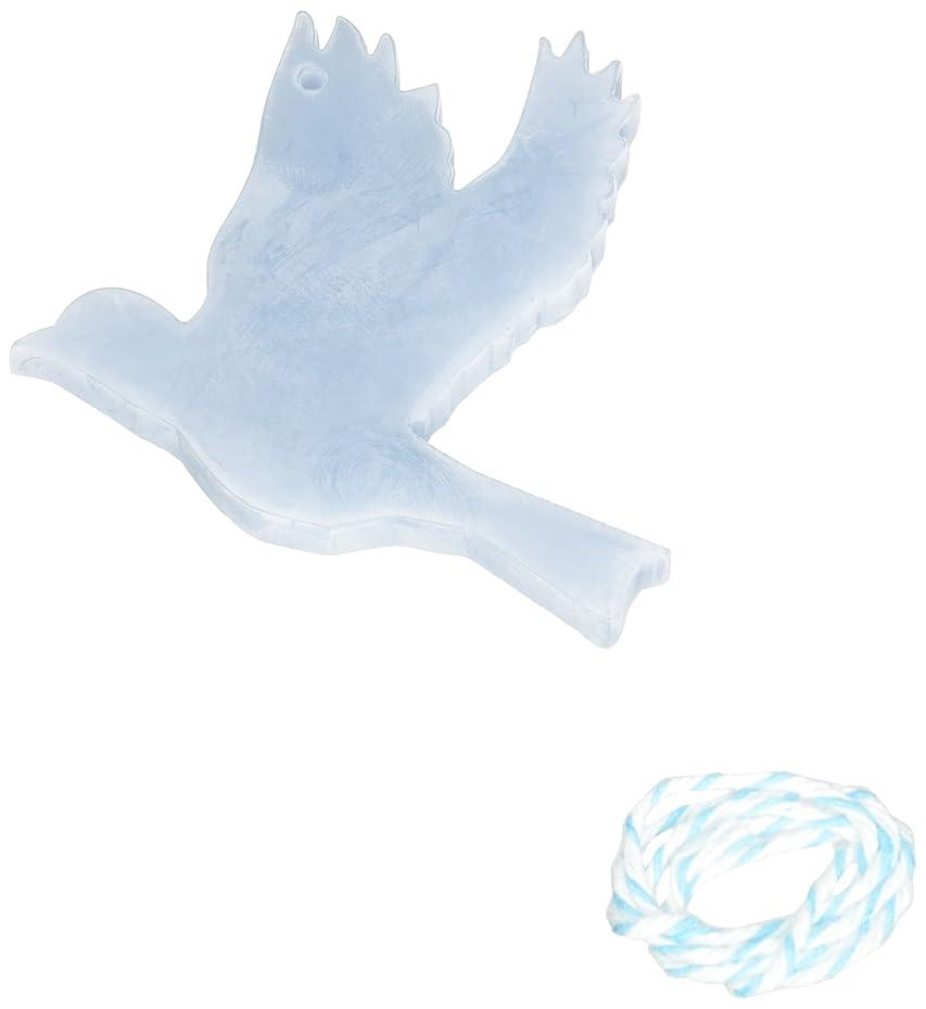 めったに雑品ミニGRASSE TOKYO AROMATICWAXチャーム「ハト」(BL) ローズマリー アロマティックワックス グラーストウキョウ
