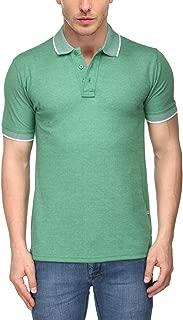 Scott International Men's Melange Cotton Polo T-Shirt