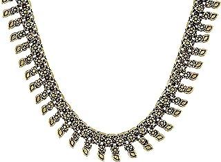 Sansar India Choker Necklace for Women (Golden) (1062)