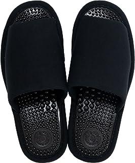 オカ 洗える 健康スリッパ ユニセックス Lサイズ (足のサイズ約24cm〜25cm) (ブラック)