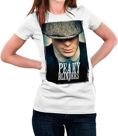 Camiseta Serie Mujer Peaky Blinders (Blanco: Amazon.es: Ropa
