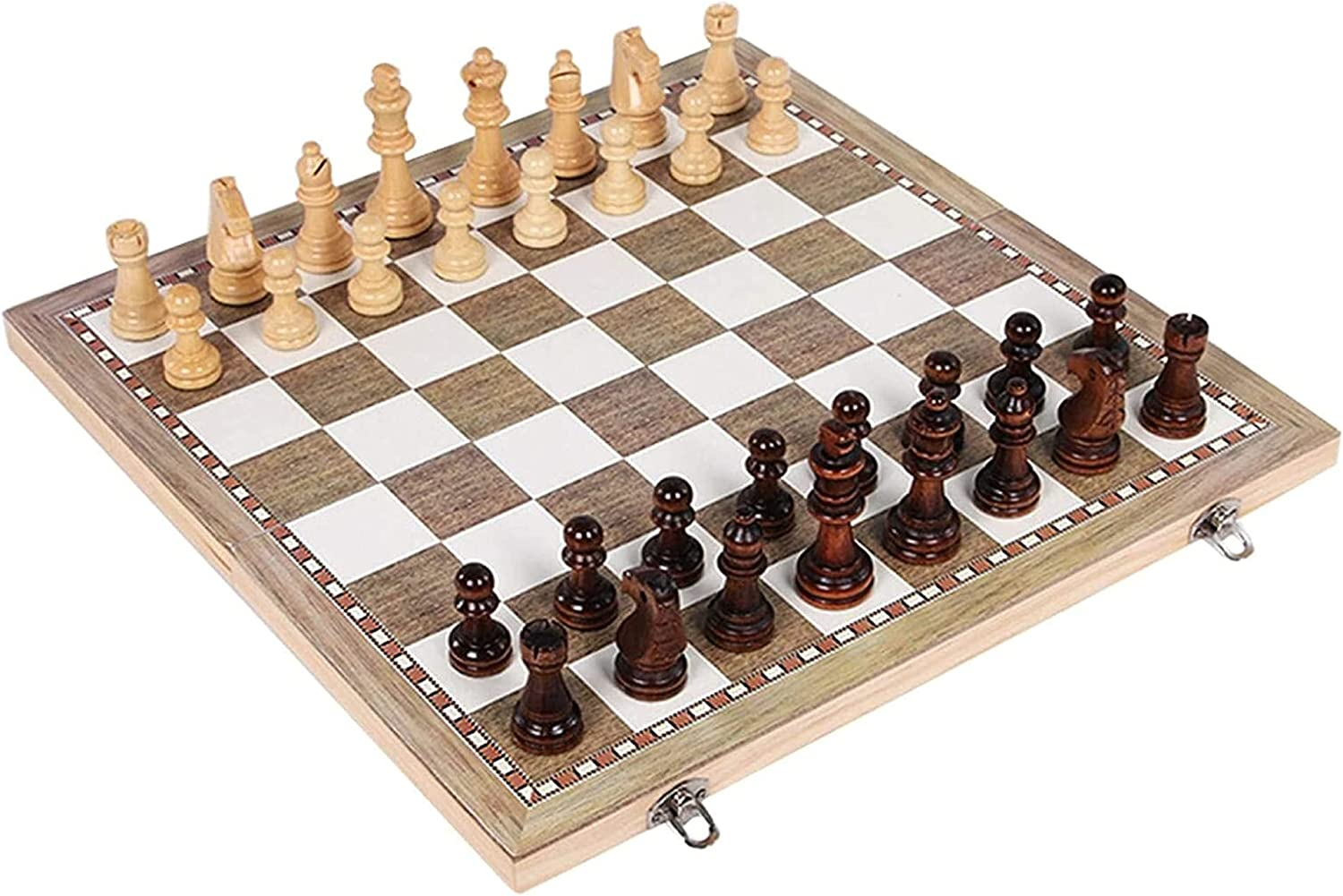 MTCWD Folding Wooden Chess Foldable Louisville-Jefferson County Mall Ch Max 73% OFF Magnetic Set