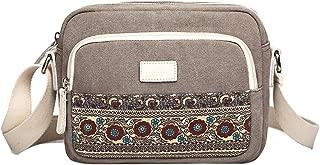 SGJFZD Women's Handbag Large-Capacity Shoulder Bag Messenger Bag Tote Bag Canvas Shopping Travel Laptop Bag Fashionable for Ladies Wallet Storage Bag (Color : Grey)
