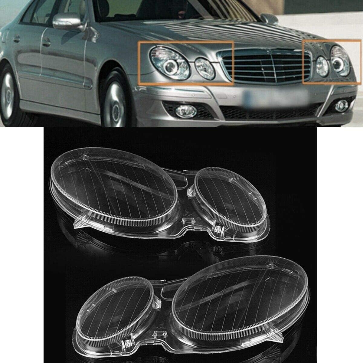 W211 E350 320200 2002-2008 Derecha R Nrpfell Sombra de Lente Transparente del Faro del Coche para Mercedes