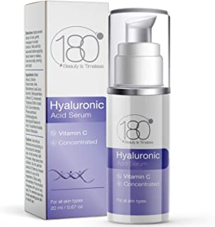 Best Hyaluronic Acid Serum for Face w. Vitamin C - Ages 30 to 40 - Anti Aging Serum Face Moisturizer & Restorer - Concentrated Face Serum for Smooth Supple Hydrated Skin - 180 Cosmetics Review
