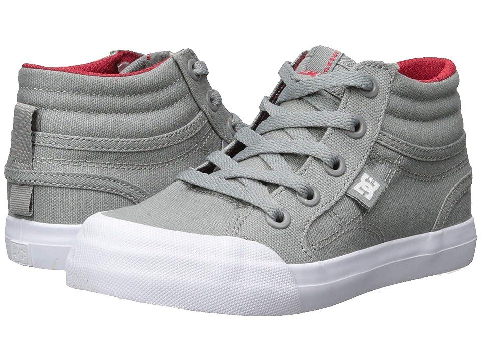 DC Kids Evan Hi TX (Little Kid/Big Kid) (Grey/Red) Boys Shoes