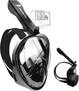 BENETA Snorkel Mask Full Face Snorkel Mask 180° Panoramic Views Snorkeling Mask with Detachable Camera Mount, Independent ...