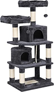 Yaheetech Cat Tree Condo Kitten Tower Play House with a Extra-Large Scratching Board,..