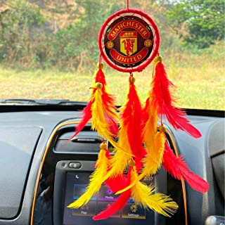 Rooh dream catcher ~ Manchester United Football Club Car Hanging ~ Handmade Hangings for Positivity (Can be used as Home D...