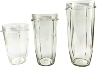 Sduck Replacement Parts for Nutri Ninja Blender, 18oz.24oz.32oz. Cup For 900w 1000w 1300w Auto-iQ and Duo Blenders Nutri Ninja Blender Accessories, 3 pcs/pack