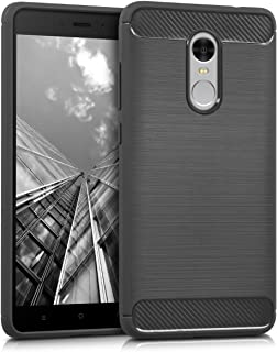 kwmobile TPU Silicone Case for Xiaomi Redmi Note 4 / Note 4X - Soft Flexible Shock Absorbent Protective Phone Cover - Anthracite