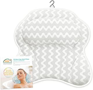 Bath-tub Pillow for Home Spa and Rest, Relaxation Bath tub Cushion with Strong Suction Cups,1 Panel Bath Pillows - White