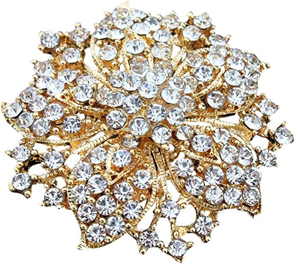 JAJAFOOK Womens Brooch Pin with Fashion Jewelry Fancy Vintage Bling Rhinestone Bauhinia Flower