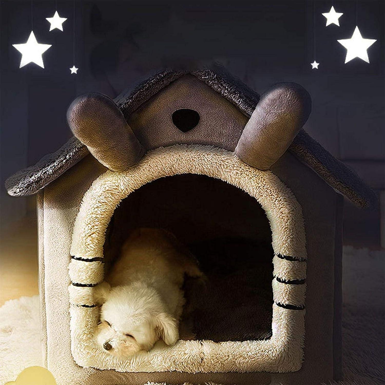 Riscaldamento 2 in 1 Pieghevole casa Portatile per Animali Domestici Yunt-11 Casa per Animali Domestici in Pile da Esterno casa per Gatti per Esterni Comoda Cuccia per Gatti